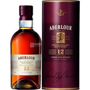 Aberlour, Віскі 12 років, 0,7 л, тубус
