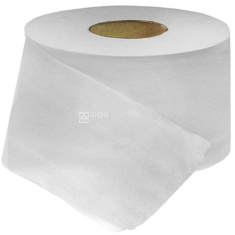 Wellis, 120 м, Туалетная бумага Велс, Джамбо, 2-х слойная, серая