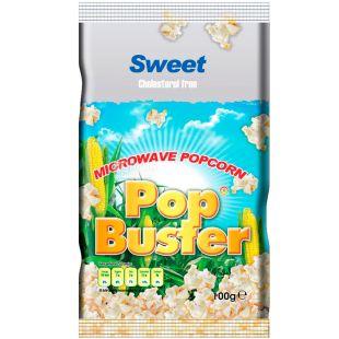 Pop Buster, 100 г, Попкорн для мікрохвильової печі Поп Бастер, солодкий