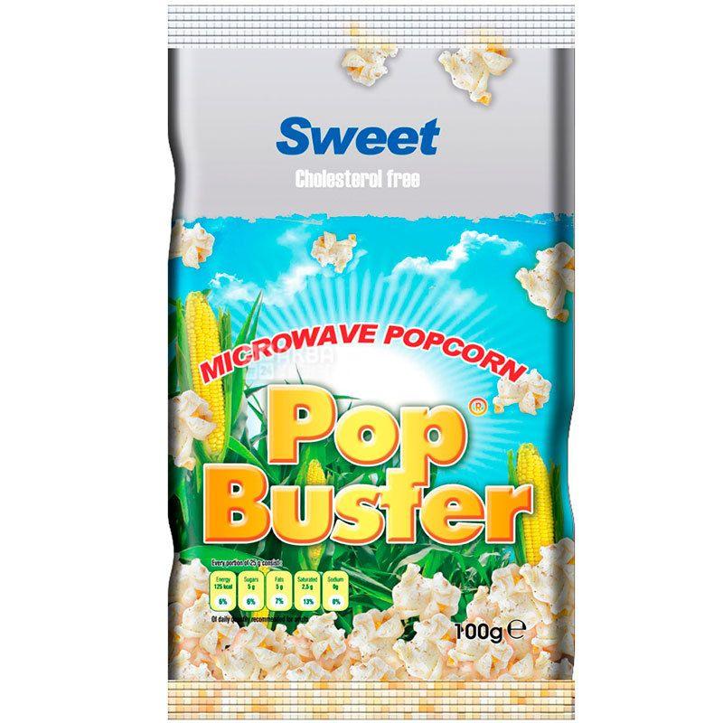 Pop Buster, 100 г, Попкорн для микроволновой печи Поп Бастер, сладкий