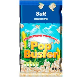 Pop Buster, 100 г, Попкорн для мікрохвильової печі Поп Бастер, з сіллю