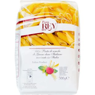 Rey Penne rigate, 500 g, Pasta Ray Penne Rigate
