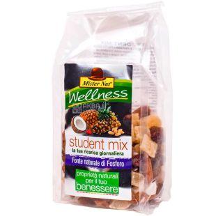 Mister Nut Student Mix, 120 г, Смесь орехов и сухофруктов Мистер Нат, Студенческий микс