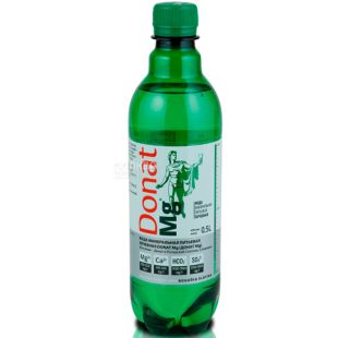 Donat Mg, 0.5 L, Donat, Highly carbonated water, with magnesium, PET
