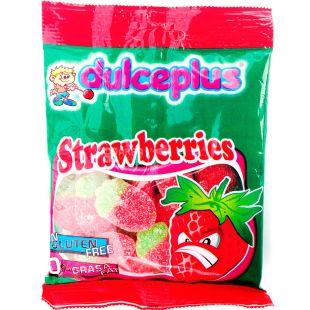 Dulceplus Strawberries, 100 г, Дульчеплюс, Полуниця, Жувальні цукерки, без глютену