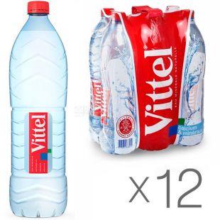 Vittel, 1,5 л, Упаковка 12 шт., Виттель, Вода минеральная негазированная, ПЭТ
