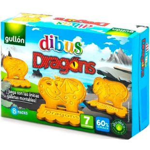 Gullon Dibus Dragons, 300 г, Печиво дитяче Гуллон Дібус Дракон