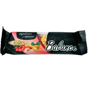 Balance, 30 г, Баланс, Батончик злаковый з журавлиною та горіхами