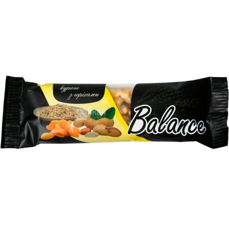 Balance, 30 г, Баланс, Батончик злаковый з курагою та горіхами
