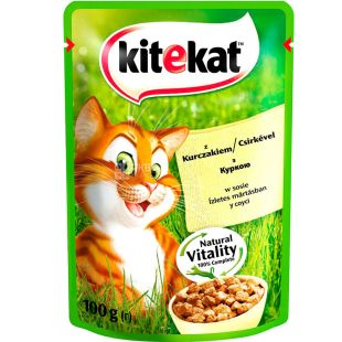 Kitekat, 100 g, food, for cats, with chicken in sauce