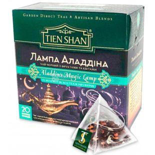Тянь Шань Лампа Аладдина, 20 пак., Чай черный и зеленый с лепестками и фруктами