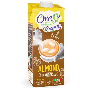 OraSi Barista Almond, 1 л, Соевый напиток Ораси Бариста, Миндаль