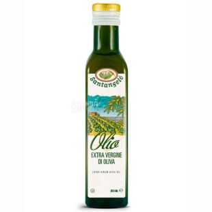 Santangelo Oil Olive Extra Vergine, 250 мл, Масло оливковое Экстра Виржин Сантанжело, стекло