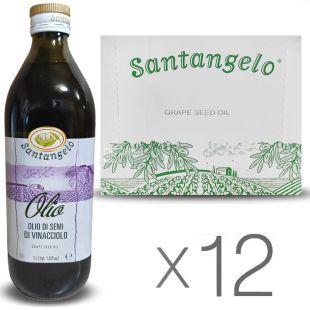 Santangelo Grape Seed Oil 1л, Масло из виноградных косточек Сантанжело, стекло, 12 шт. в упаковке