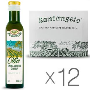 Santangelo Oil Olive Extra Vergine, 0.25 L, Extra Virgin Olive Oil Santangelo Glass, 12 pcs. packaged