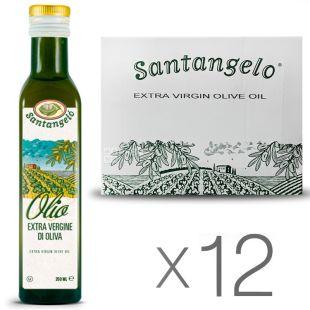 Santangelo oil Olive Extra Virgin, 0,25 л, Олія оливкова Екстра Віржин Сантанжело, скло, 12 шт. в упаковці