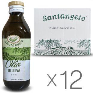 Santangelo Olive Oil 500 мл, Олія оливкова рафінована Сантанжело, скло, 12 шт. в упаковке