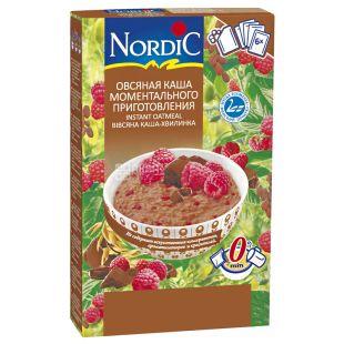 NordiC, 210 г, Каша вівсяна Нордік, Темний шоколад та малина, швидкого приготування, 6х35 г