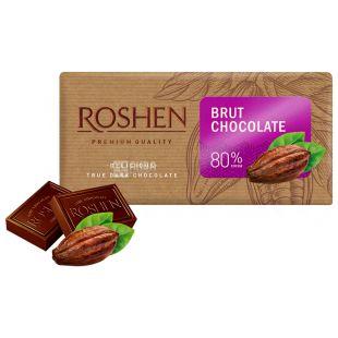 Roshen Brut 80%, 90 г, Рошен Брют 80%, Шоколад чорний