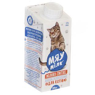 Мяу милк, 0,2 л, Молоко для котов, 2,5%