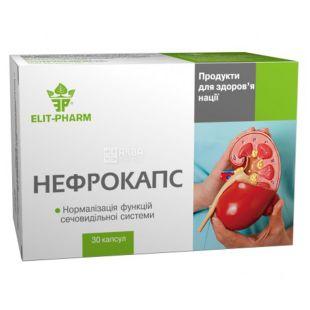 Elit Pharm Нефрокапс, №30, Дієтична добавка Еліт Фарм для сечовидільної системи