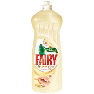 Fairy, 1 L, Pack of 10, Dishwashing liquid Fairy Delicate hands, with chamomile and vitamin E