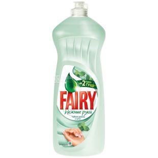Fairy, Средство для мытья посуды Фейри, Нежные руки, Чайное дерево и мята, 1 л, Упаковка 10 шт.