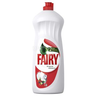 Fairy, 1 L, Pack of 10, Dishwashing liquid Fairy, Berry freshness