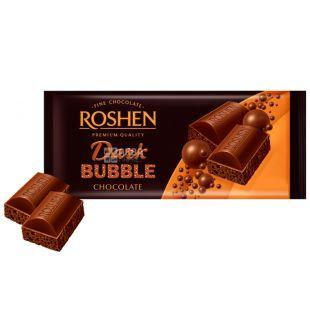 Roshen Dark Bubble, Шоколад Рошен екстрачорний пористий, 80 г
