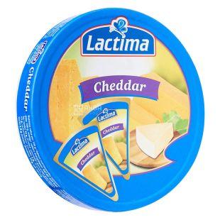Lactima Cheddar, Сыр плавленый Лактима Чеддер, порционный, 120 г