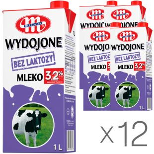 Mlekovita, 12 packs of 1 l each, 3.2%, Mlekovit milk, lactose-free