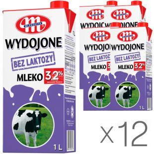 Mlekovita, 12 упаковок по 1 л, 3,2%, Молоко Млековіта, безлактозне