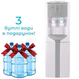 Ecotronic H3-L Silver, Кулер для воды с компрессорным охлаждением, напольный