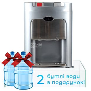 Ecotronic C8-TZ Silver, Кулер для води з компресорним охолодженням, настільний