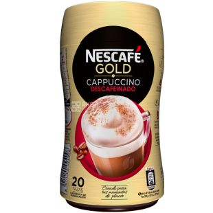 Nescafe Gold Cappuccino, 250 g, Instant coffee, decaffeinated