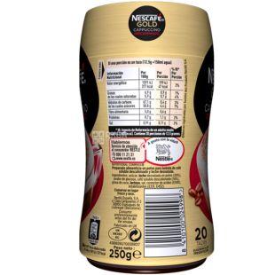 Nescafe Gold Cappuccino, 250 г, Кавовий напій Нескафе Голд розчинний, без кофеїну