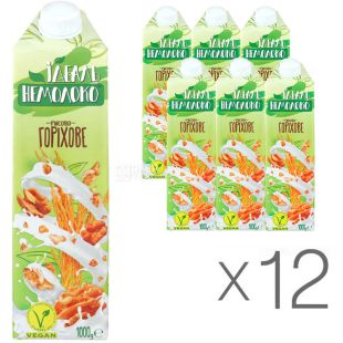 Ideal Non-Milk, 1 L, Pack of 12, Rice and Nut Drink, 4%