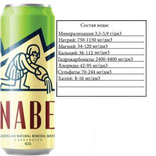 Nabeghlavi, 0,33 л, Набеглави, Вода минеральная сильногазированная, ж/б
