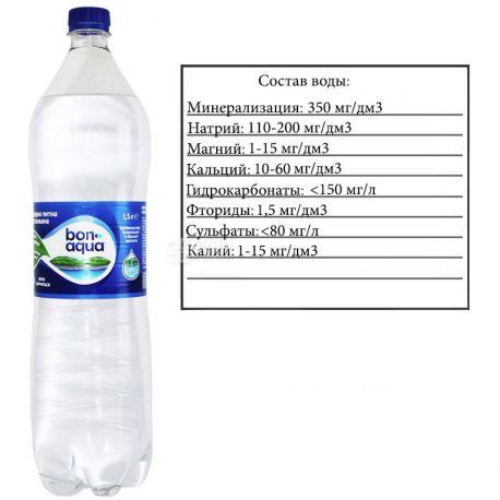 BonAqua, 1,5 л, БонАква, Вода минеральная сильногазированная, ПЭТ