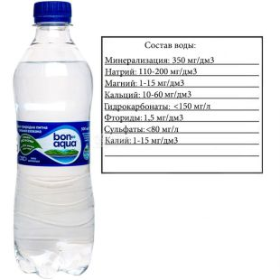 BonAqua, 0.5 L, highly carbonated water, PET, PAT