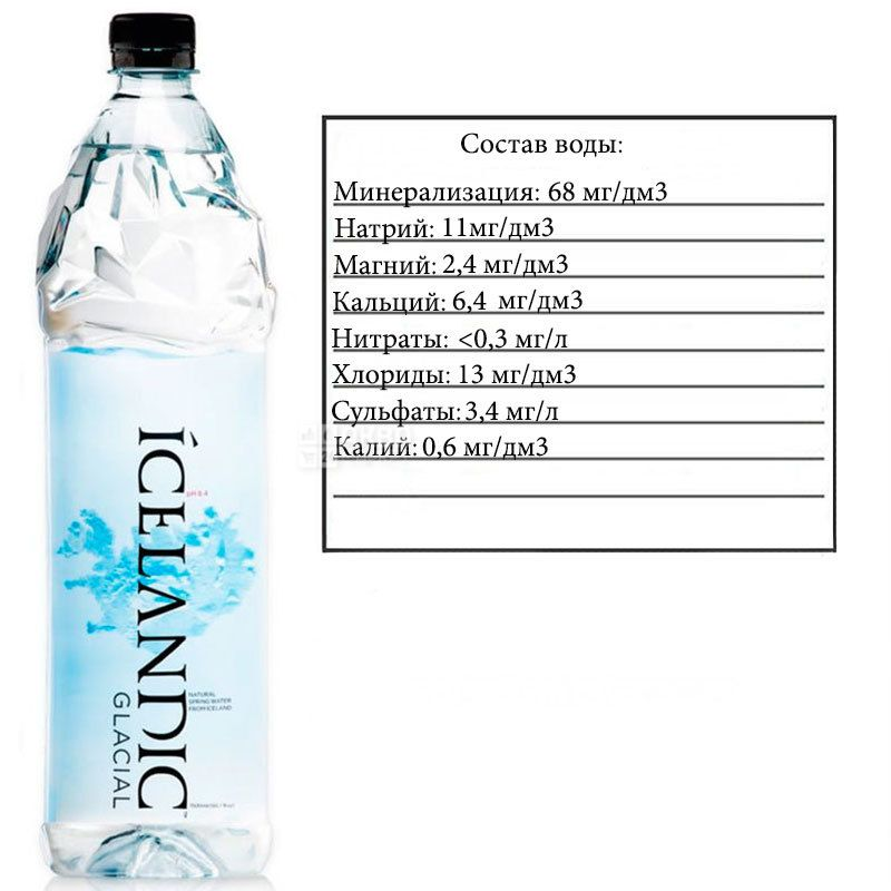 Icelandic Glacial, Non-carbonated mineral water, 1.5 L, PET, PAT