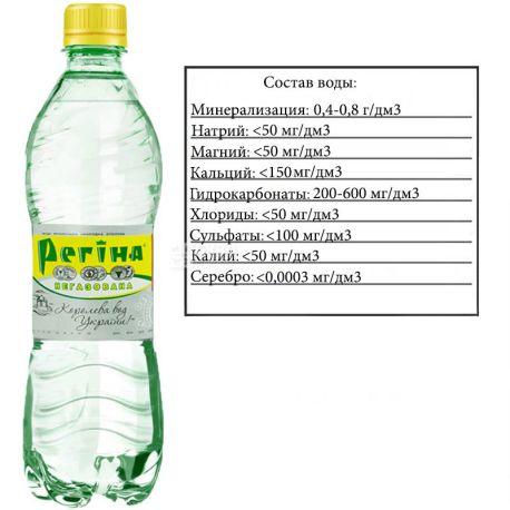 Регина, 0,5 л, Вода негазированная минеральная, ПЭТ