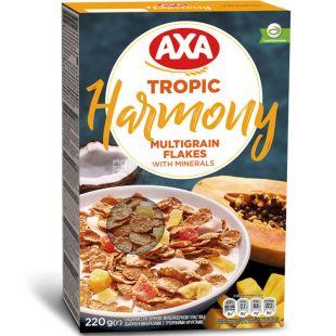 Axa Harmony Tropic, 220 г, Хлопья Мультизерновые с тропическими фруктами и минералами