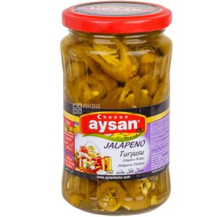 Aysan Jalapeno, 340 g, Aisan Jalapeno Peppers, Canned Hot