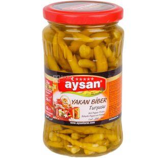Aysan Yakan Biber, 340 г, Перец Айсан Якан Бибер, острый консервированный