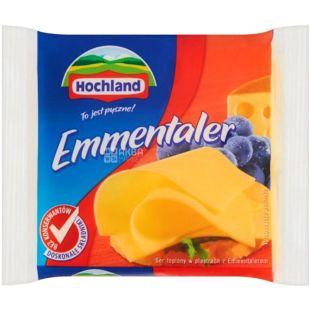 Hochland Emmentaler, 130 г, Плавленый сыр Хохланд Эмменталер, 40%, нарезанный