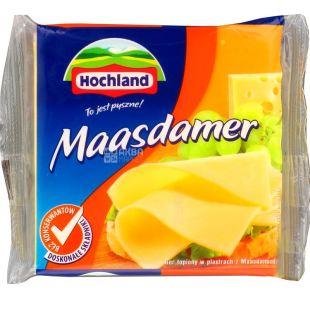 Hochland Maasdamer, 130 г, Плавленый сыр Хохланд Маасдамер, 40%, нарезанный