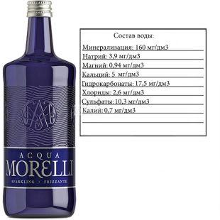 Acqua Morelli, 0,75 л, Аква Мореллі, Вода мінеральна газована, скло