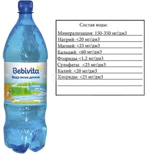 Bebivita, Children still water, 1.5 l, PAT