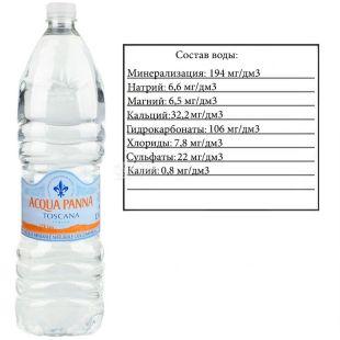 Acqua Panna, 1,5 л, Аква Панна, Вода мінеральна негазована, ПЕТ